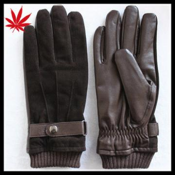 Top trendy leather gloves for men with pigsuede on the back