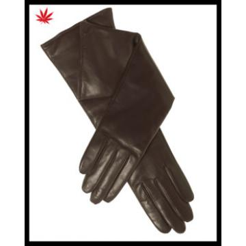 long leather gloves for women and ladies long leather opera gloves