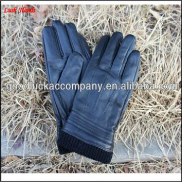 Men's stylish winter leather gloves manufacturer of custom