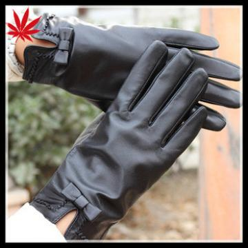Ladies leather gloves size 9 with company logo custom design