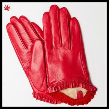 women dresses hand gloves for gilrs short fashion leather glove