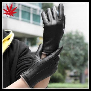 Stylish Men's Genuine Lambskin tight driving Leather Gloves Black