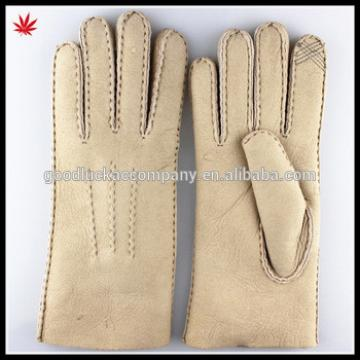 2015 New Style Ladies Warm Double Face Genuine Leather Gloves