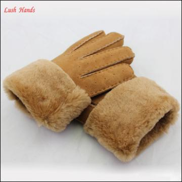 Ladies fabric dress gloves and double face wholesale winter gloves