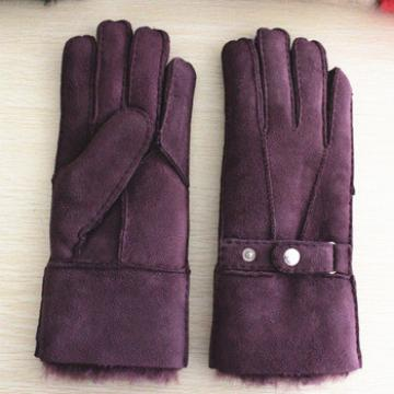 womens fashion buttons and warm double face gloves