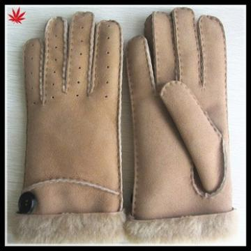 Leather & Fur womans fashion winter gloves hand