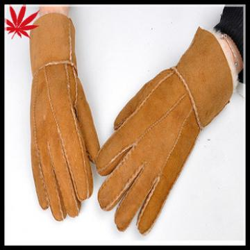 Cheap fake double face leather and fur gloves unisex