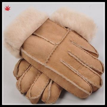 double face cheap wholesale winter warm leather glove