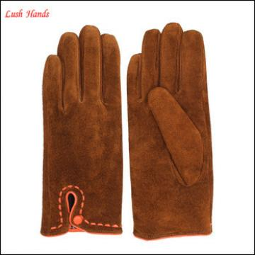 Women customized color pigsuede leather gloves with very cheap price