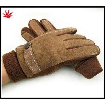 women Fashion Pig split leather gloves