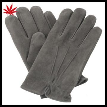Mens suede leather gloves with three linings basic style