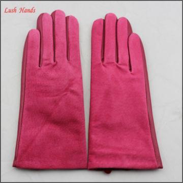 ladies pig suede leather hand gloves stitching hand gloves