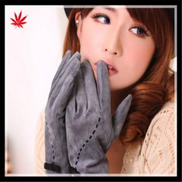 Ladies delicate suede gloves for foreign wholesale
