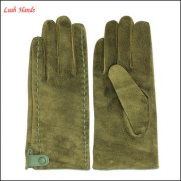 Women's sheepsuede gloves lined 3/7Wool