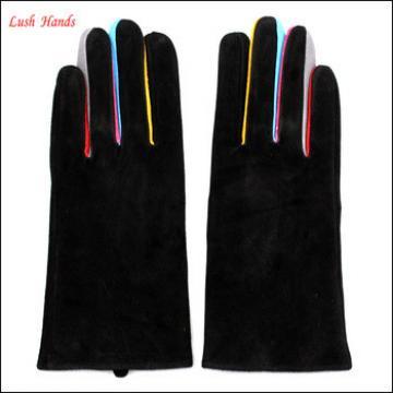 ladies new design pigsuede genuine leather glove