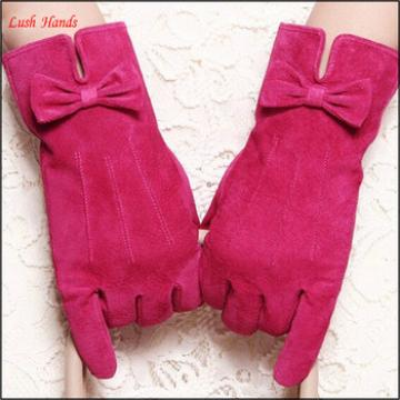 Leather gloves women cheap suede pink leather glove in Eupore