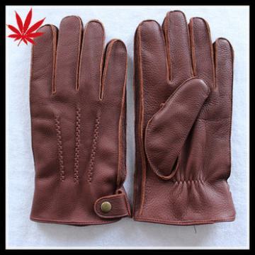 Men's very soft brown deerskin gloves