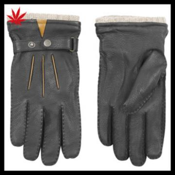 Mens fashion deer leather gloves new style 2016