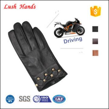 women 's car leather driving gloves with the studs