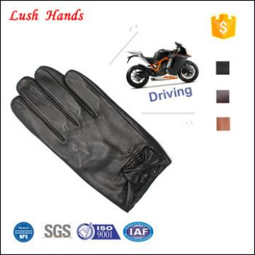 New Womens Leather Winter Dress Driving Gloves BROWN With Decorative Buttons