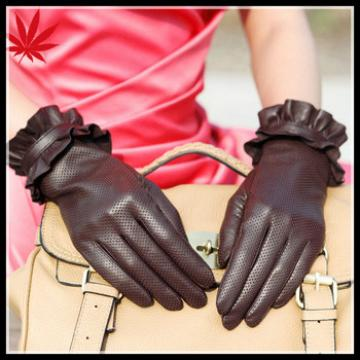 Women leather driving gloves