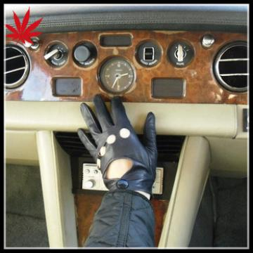 Men's black car driving gloves,classic style