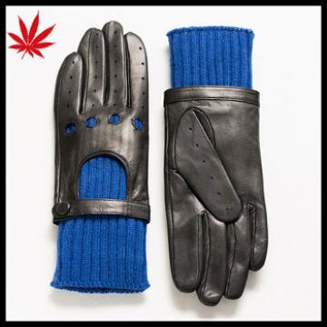 Women's warm driving gloves with customized wool inside in winter