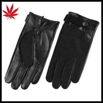 Top quality sheep leather winter Men's fashion hand driving gloves