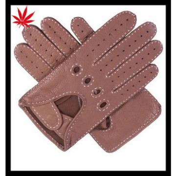 Fashion Handmade Deerskin Men's Driving Leather Gloves