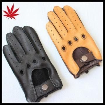Men's driving gloves with luxury deerskin,stylish and professional style