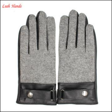 women's fashion touch screen leather gloves and woolen gloves