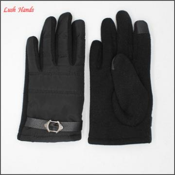 Wholesale price of the boy Feather cloth fabri touch screen gloves keep winter warm