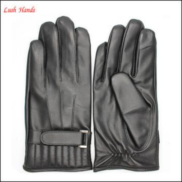 European classic British men's leather gloves with index finger touch screen
