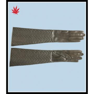 ladies elbow- long high quality leather gloves for wholesale