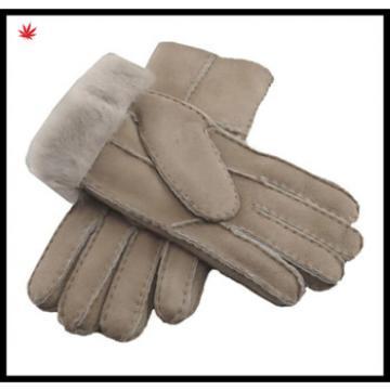 2016 Women's fashion yellow double face integration fur gloves