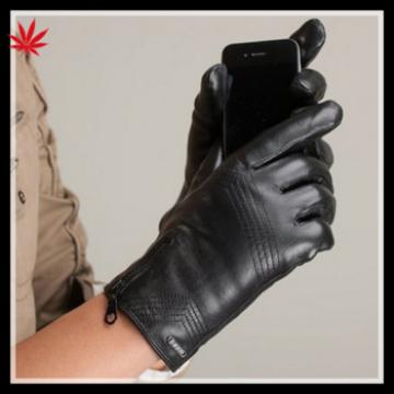 2016 touch leather gloves lady's fashion cheap smartphone leather Gloves