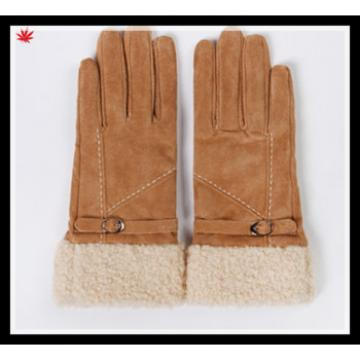 Ladies fashion thick double face winter integration fur gloves