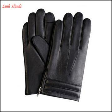 mens fashion high quality touch screen leather glove