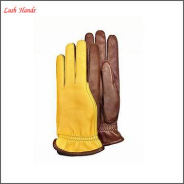 men's touchscreen sheepskin leather gloves