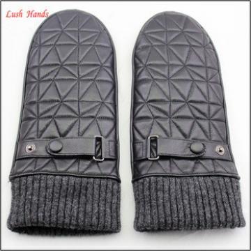 2016 warm winter 100% genuine leather mittens women