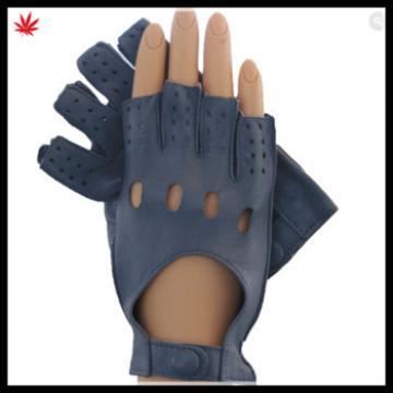 ladies fashion sexy fingerless leather glove