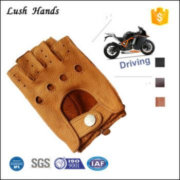 new 2016 buckskin fingerless fashion leather driving glove