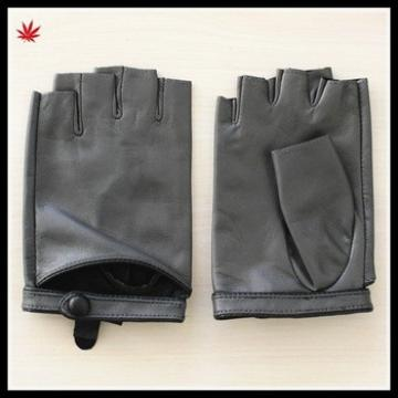 women's wearing fashion sexy fingerless leather driving glove