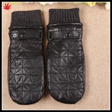 new style leather glove importer warm mitten gloves with embroidery
