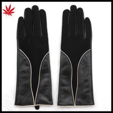 ladies sheepskin cheap and woolen leather hand gloves