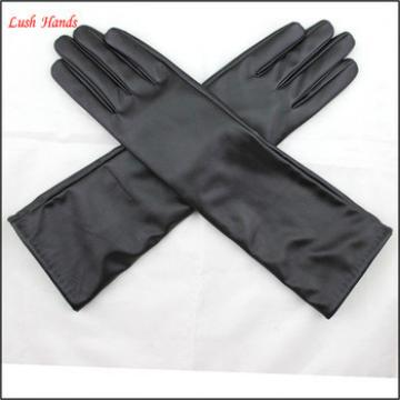 long women dresses imitation leather fabric wholesale factory gloves