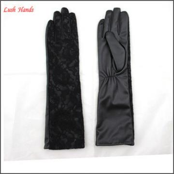 Chinese traditional lace gloves women long leather gloves