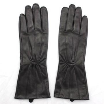 Black Long Leather Glove Driving Leather Glove Woman