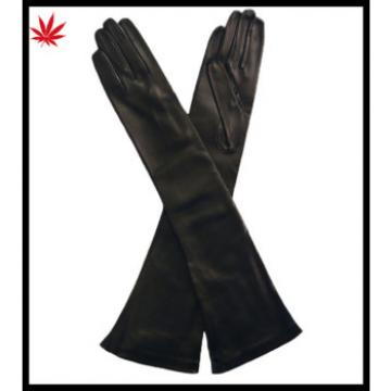 2016 hot selling women's genuine leather long gloves colorful