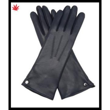 Fashion ladies silk -lined leather opera gloves